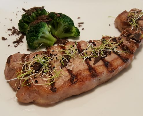 Veal sirloin grilled