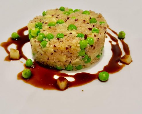 Quinoa with peas and pineapple restaurant Scorching Toledo