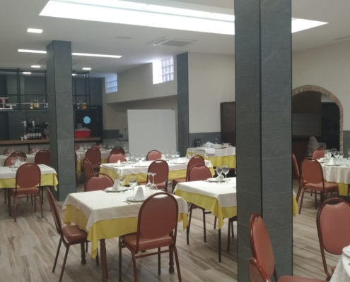 Renovated interior of the Scorching Canovas restaurant lounge