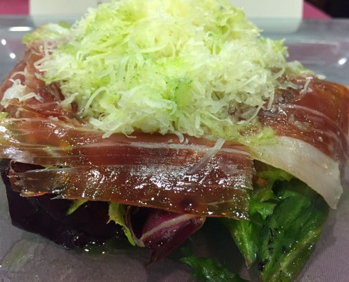 new salad in restaurants grilled meat