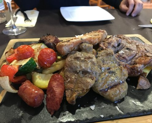 Scorching grilled meat Altomira