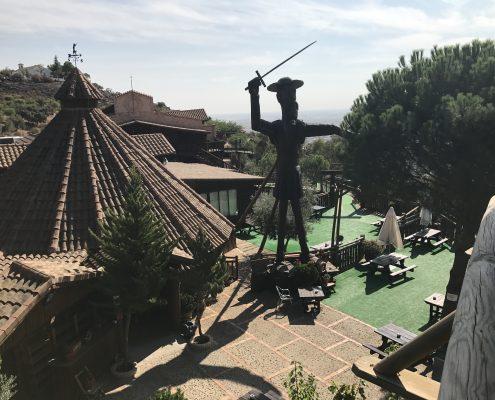 Quijote de madera El Mirador de la Mancha