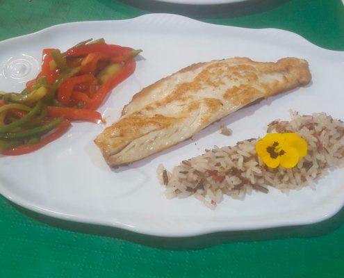 Pescado de menú especial San valentín