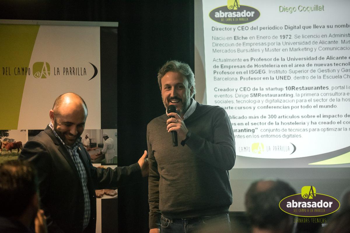 Diego Coquillat con Julio Ramirez CEO Grupo Abrasador