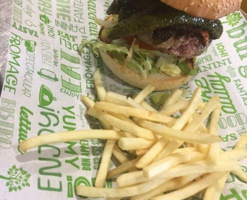 plato hamburguesa ibérica
