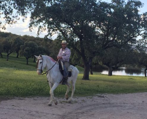 José María a caballo