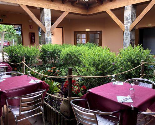 Terraza restaurante Abrasador Altomira