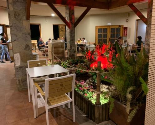 Scorching restaurant terrace Altomira Navajas