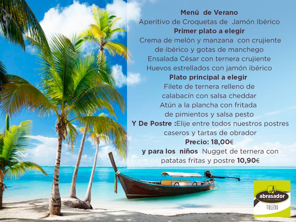 Menú de verano Abrasador Toledo