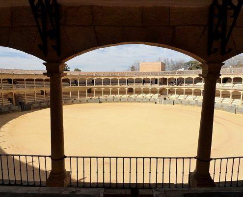 image from the public in the Plaza de Toros de Ronda, Málaga