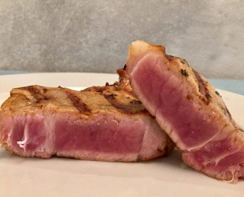 Interior carne hecha al punto