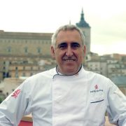 Chef Adolfo Muñoz member of the jury of the IV Burning Recipe Contest