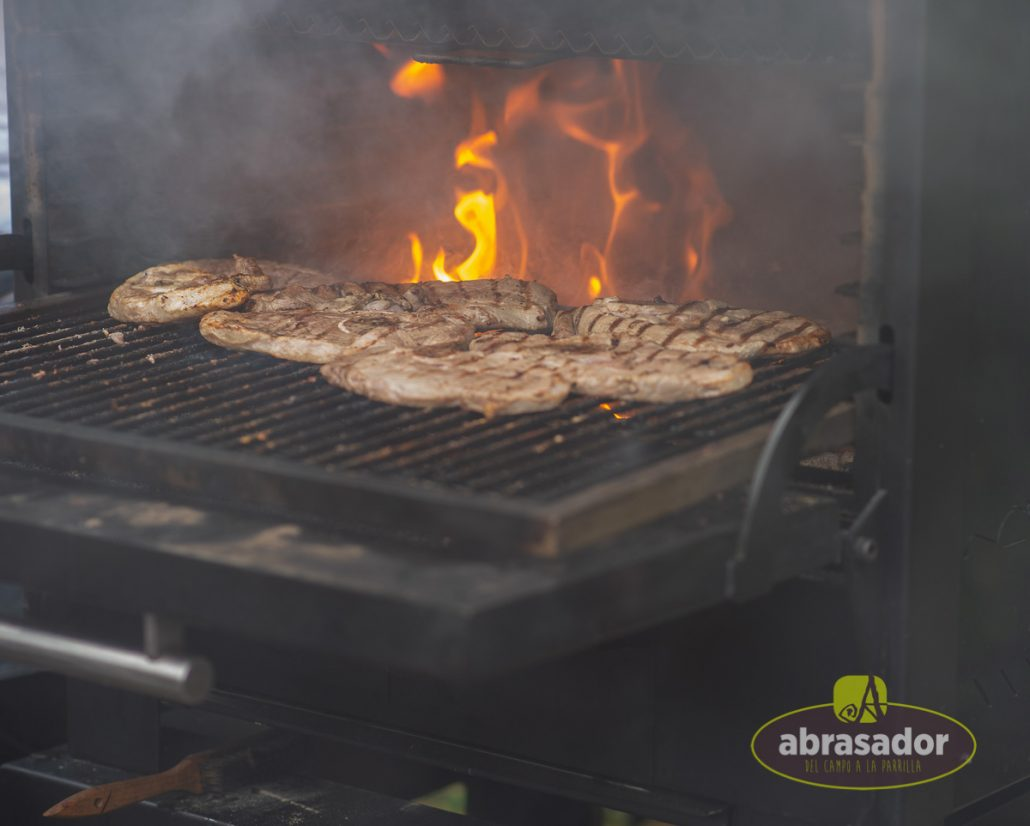 Scorching grilled meat