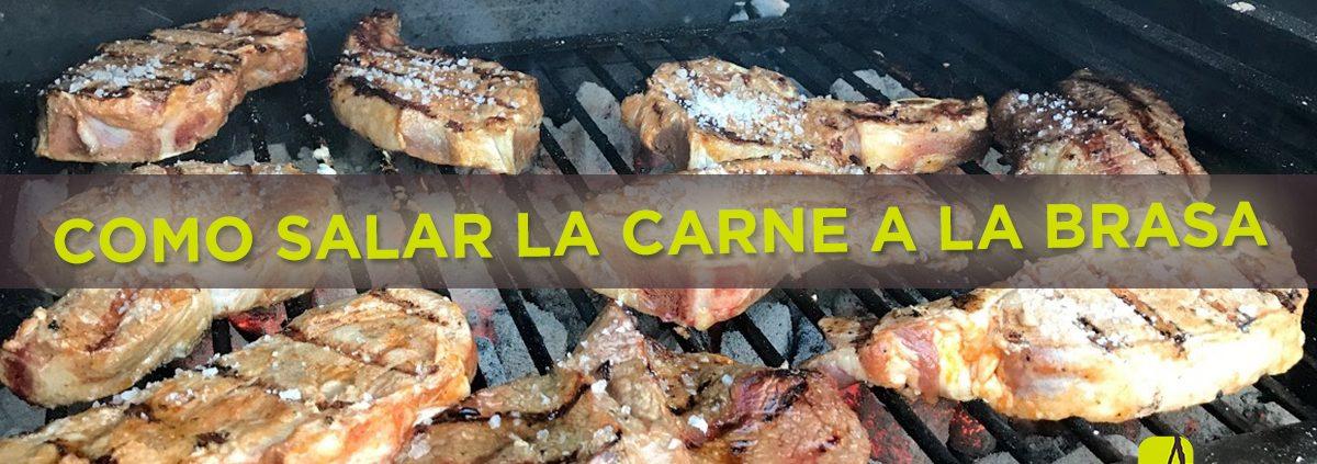 How salt the meat grilled Abrasador