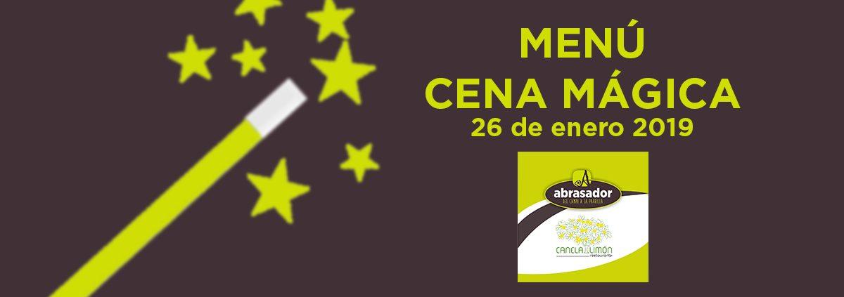 Menú Cena Mágica Abrasador Canela y Limón Consuegra