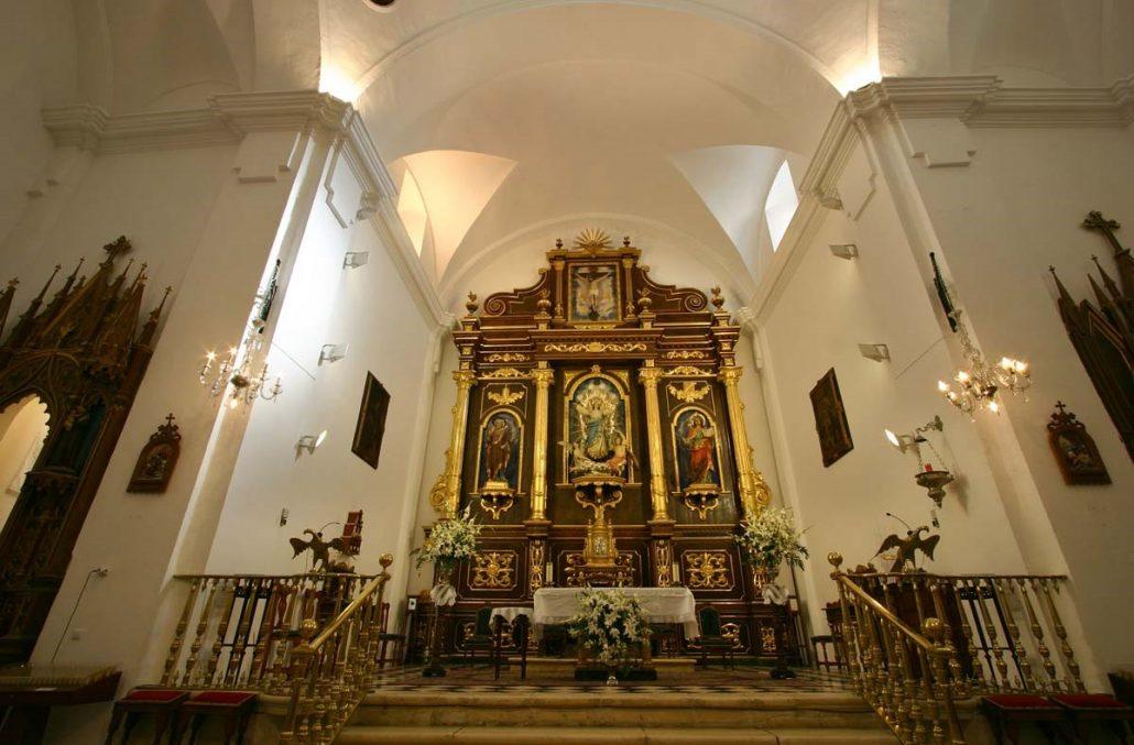 una de las iglesias situadas en la localidad de carcabuey, bastion de la sierra subbética