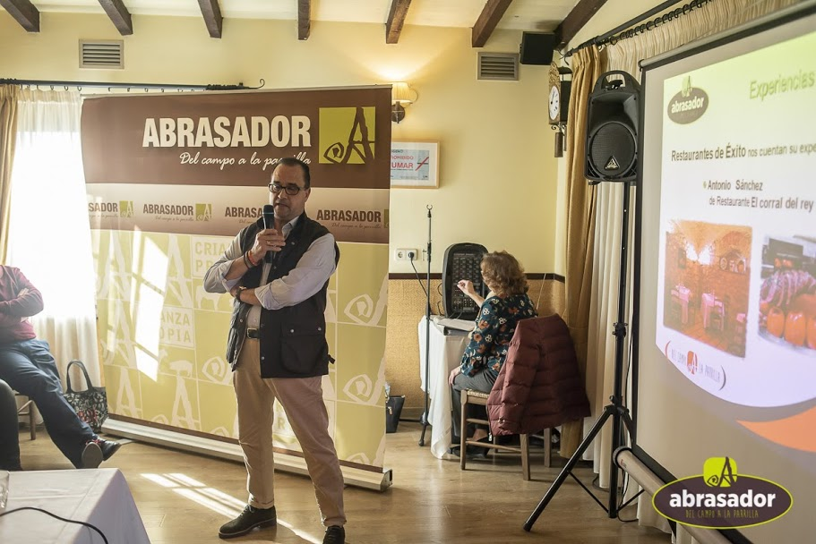 Atonio Sanchez Corral del Rey restaurant during his speech to Abrasador Group