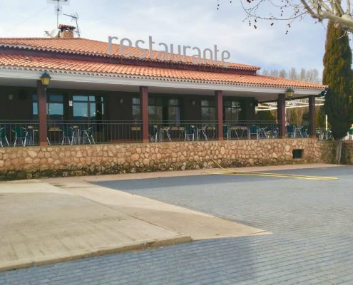 Scorching Finca restaurant facade Embid Cuenca