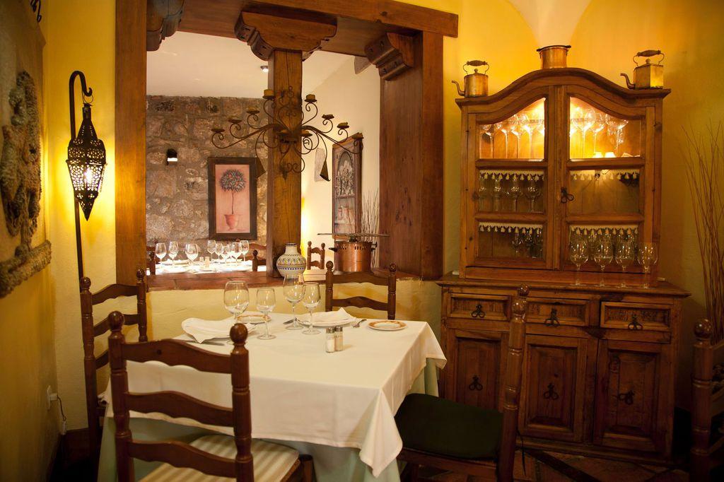 Inside the restaurant Corral del Rey in Trujillo