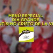 Menù Santísimo Cristo de la VIga 2019 Villacañas