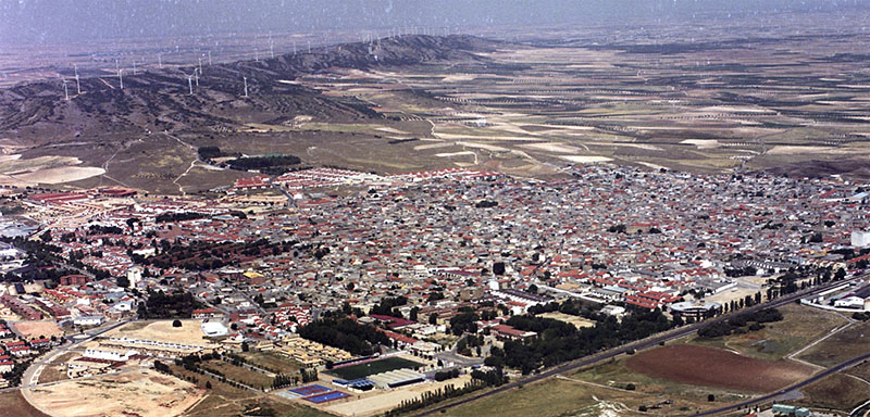 panoramic view of the town of Villacañas
