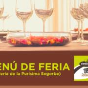 Menu Feria Abrasador Restaurante Altomira