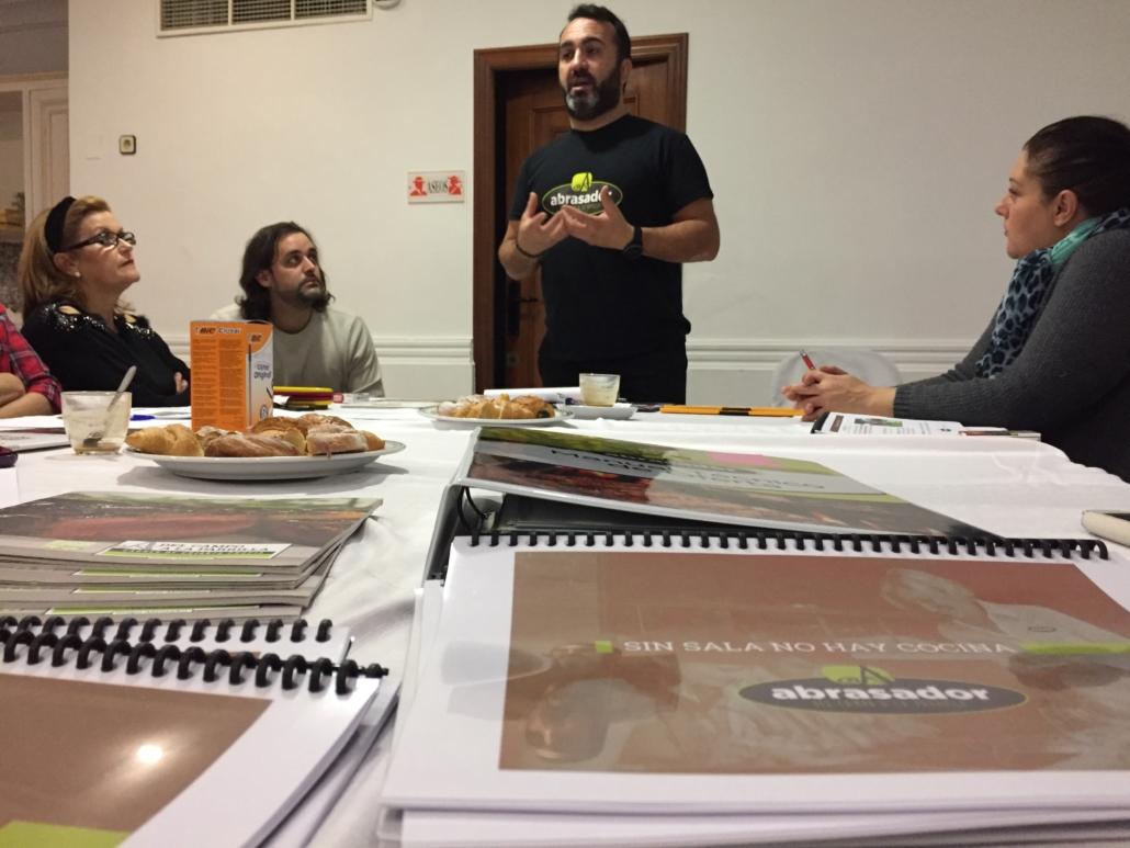 Carlos Torres en Taller de formación