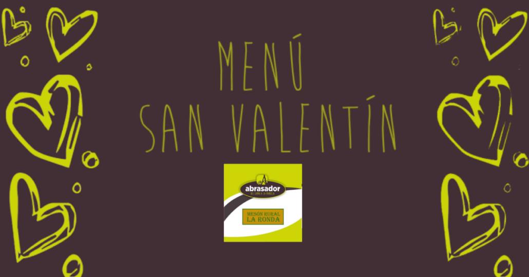 Valentine menu Meson La Ronda
