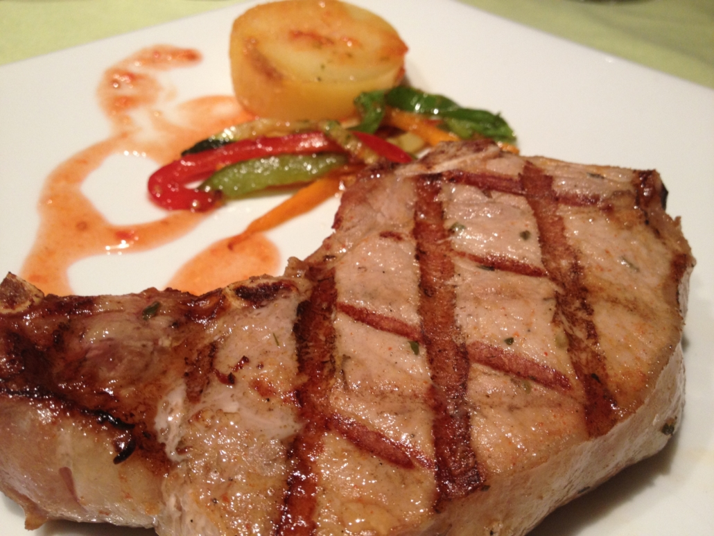 Scorching Sirloin Iberian pork flavored with mountain