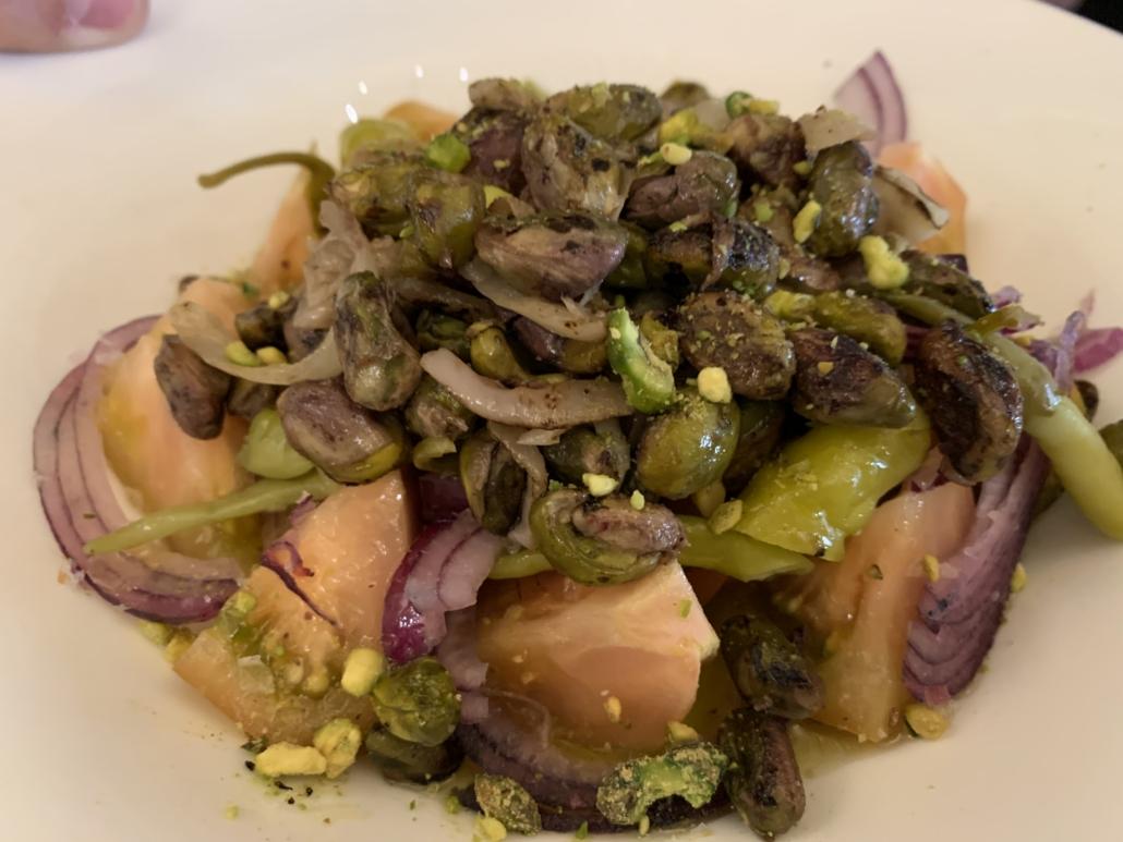Ensalada de pistachos