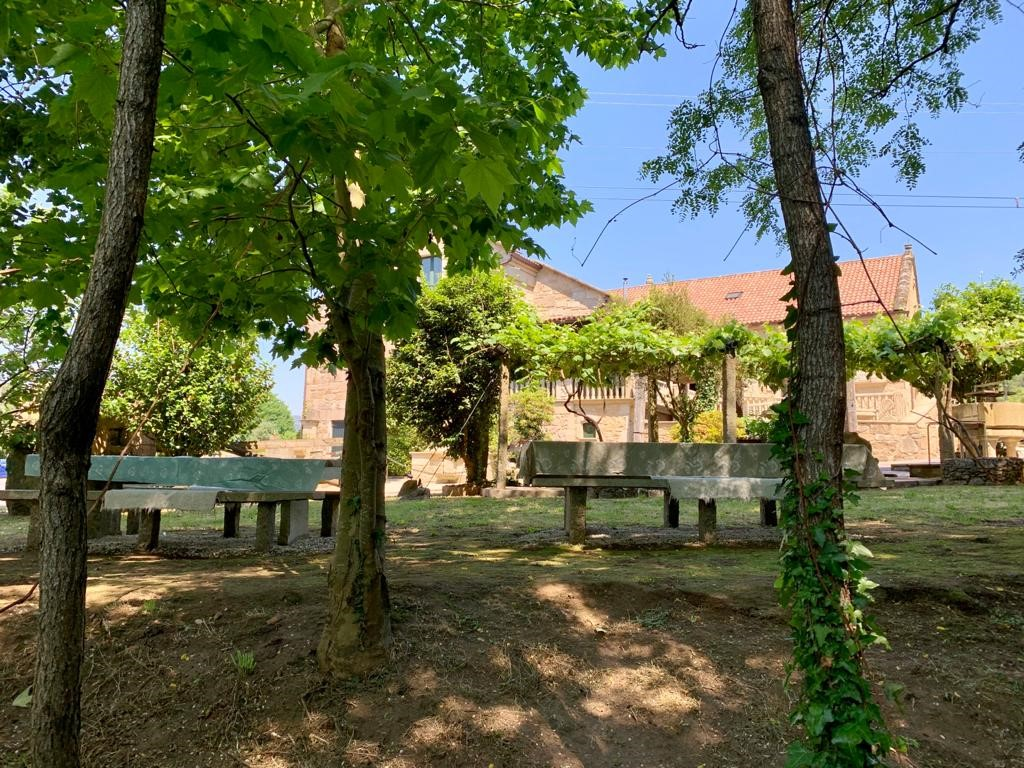 Jardín Restaurante Abrasador Gaia a Casa da Corredoira