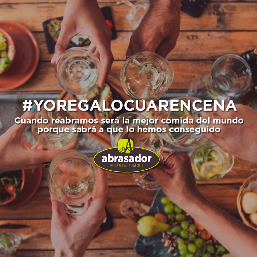 Una de las iniciativas de Grupo Abrasador para sus restaurantes y clientes