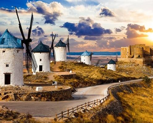 Molinos de viento de Consuegra, símbolo de la localidad toledana