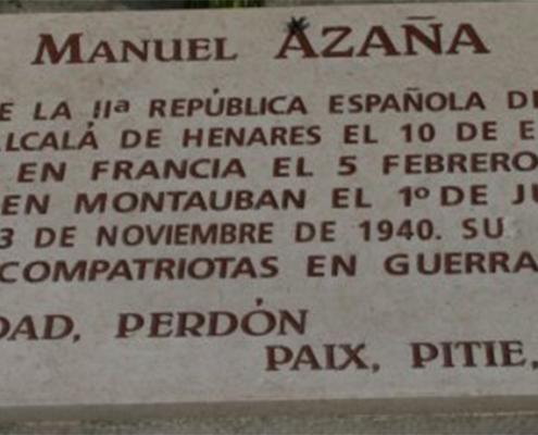 Tombstone of Manuel Azaña
