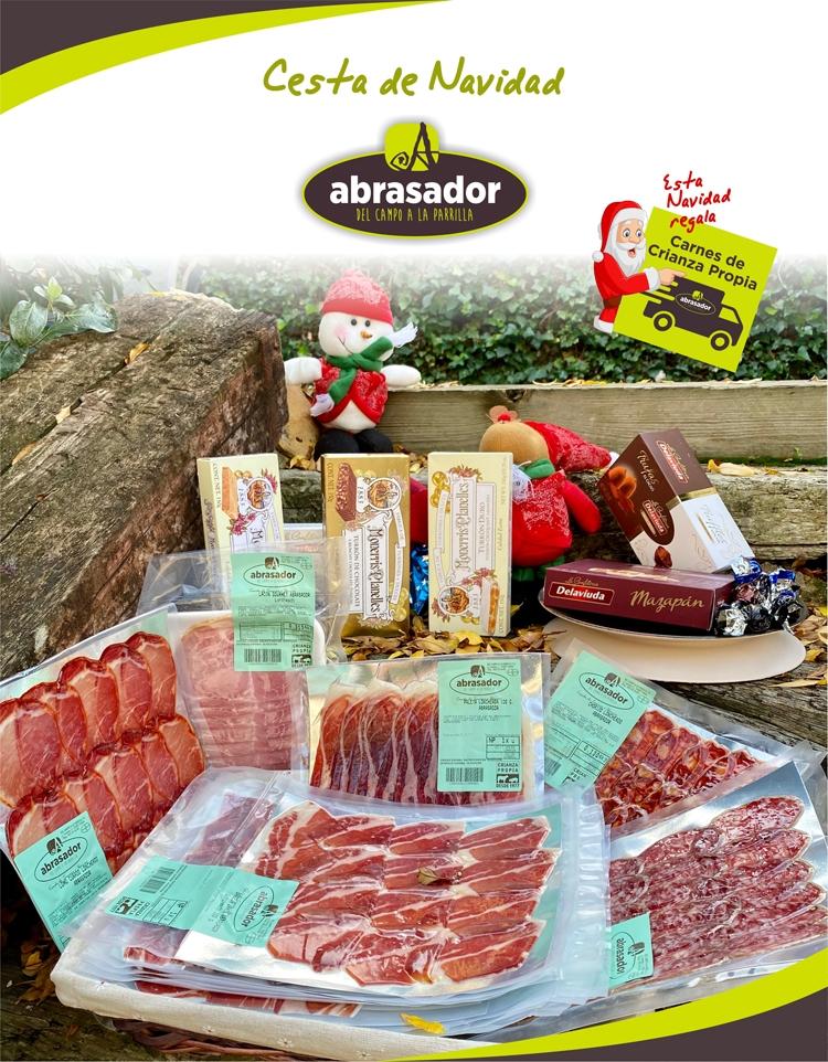 Cesta Loncheados Ibéricos Premium Navidad