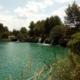 Una de las zoñas de baño habilitadas en las Lagunas de Ruidera
