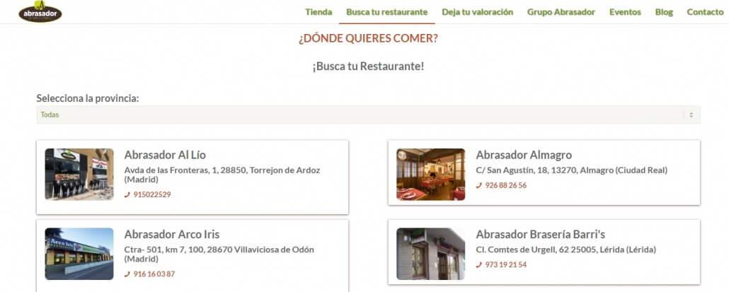Reservas página restaurantes Abrasador 1