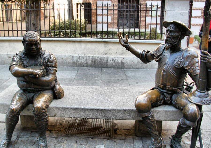 alcala-henares-monument Don Quixote-Sancho